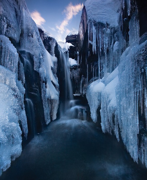 Inside the Ice Canyon