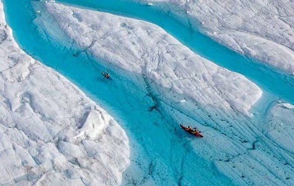 ice canyon aerial view