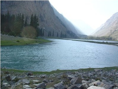 beautiful swat river