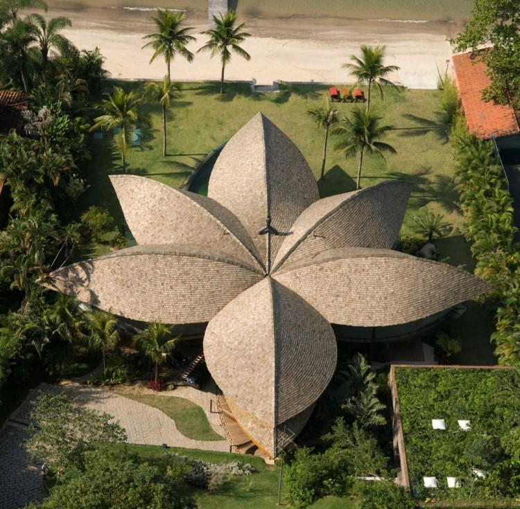 leaf house roof