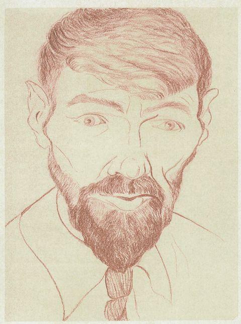D.H. Lawrence self-portrait