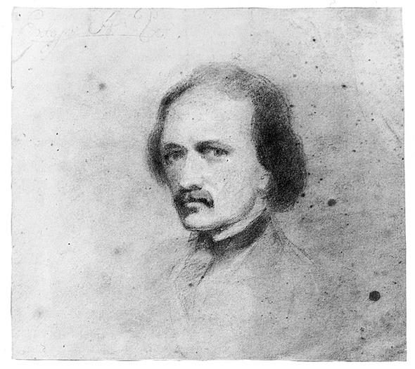 Edgar Allan Poe self portrait