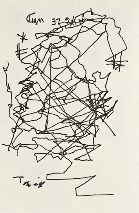 Jorge Luis Borges self portrait