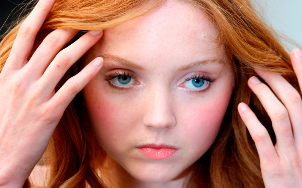 Lily Cole porcelain doll face