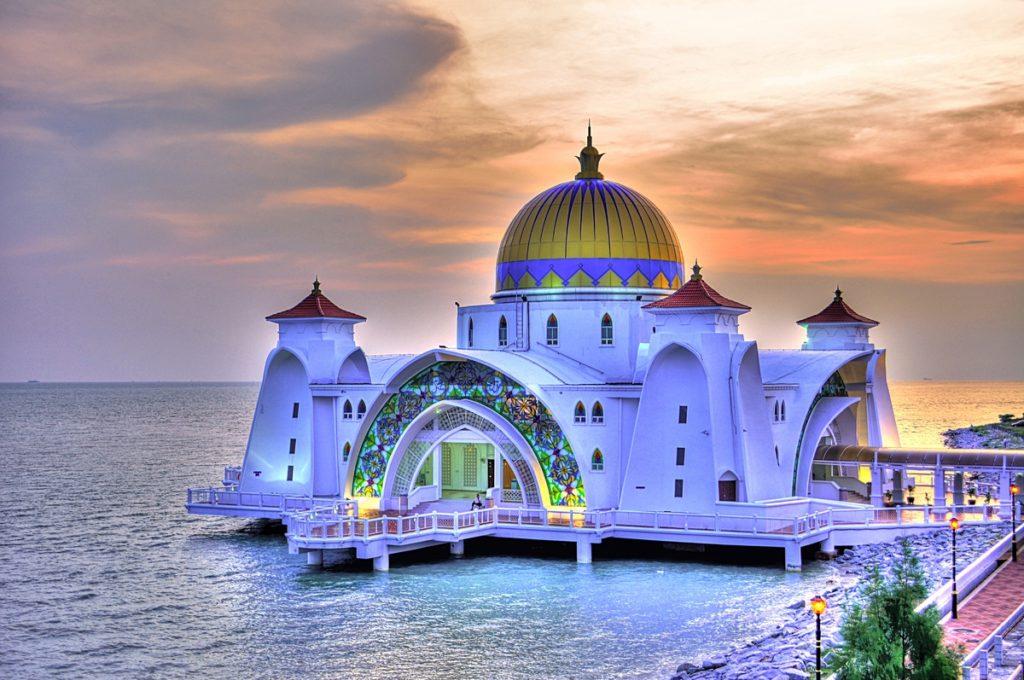 Straits Mosque - Malacca state, Malaysia
