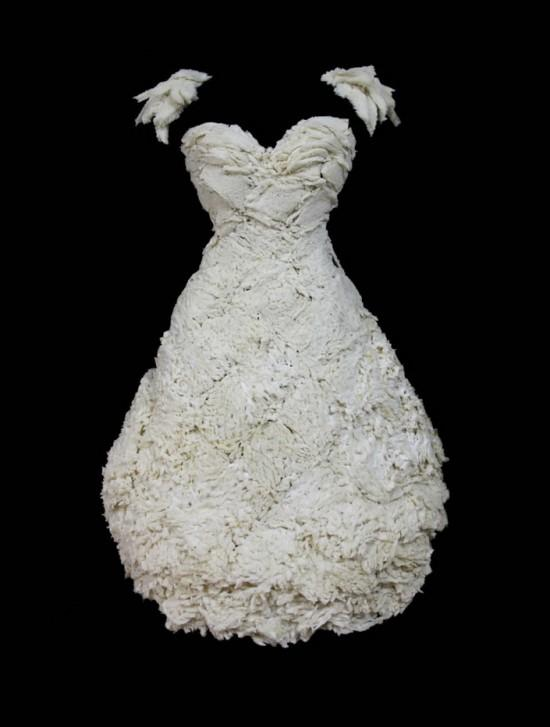 Dress made of bread