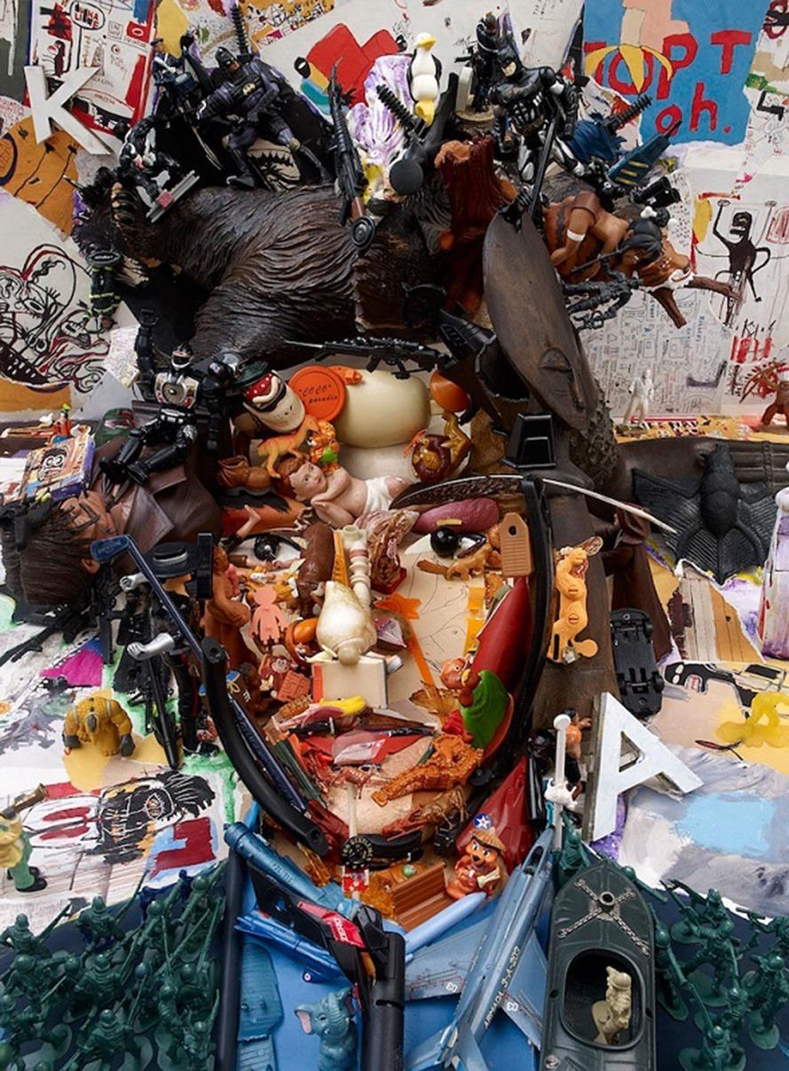 Anamorphic Portraits Jean-Michel Basquiat