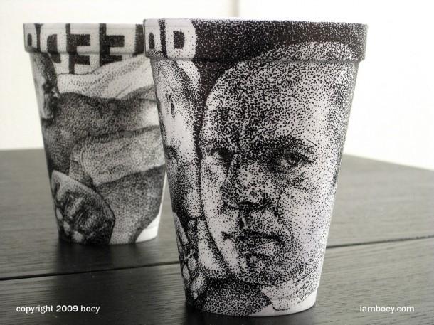 Cheeming Boey coffee cup art