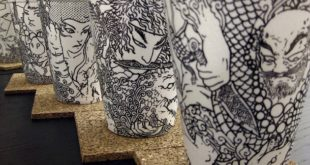 Cool coffee cup art