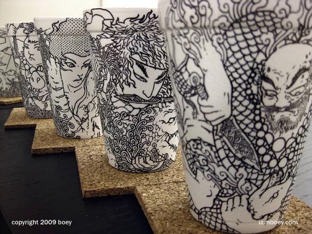 Cool coffee cup art