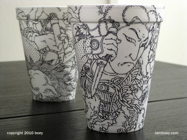 amazing art on coffee cup