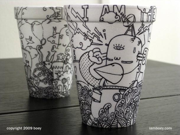 amazing paper cup art