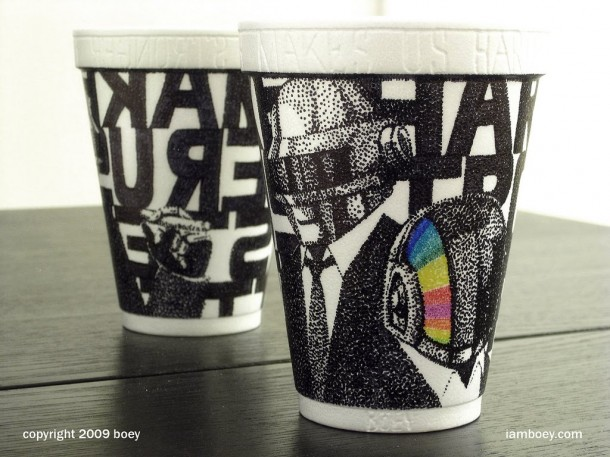 coffee cup robot art