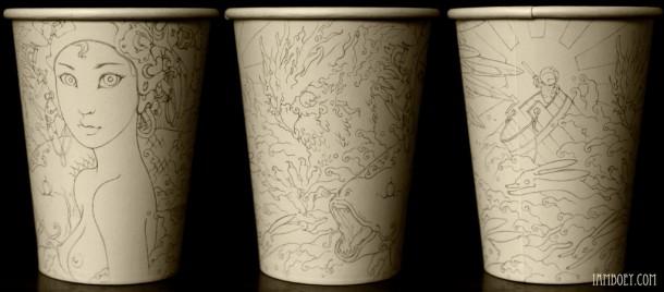 coffee cups art cheeming boey