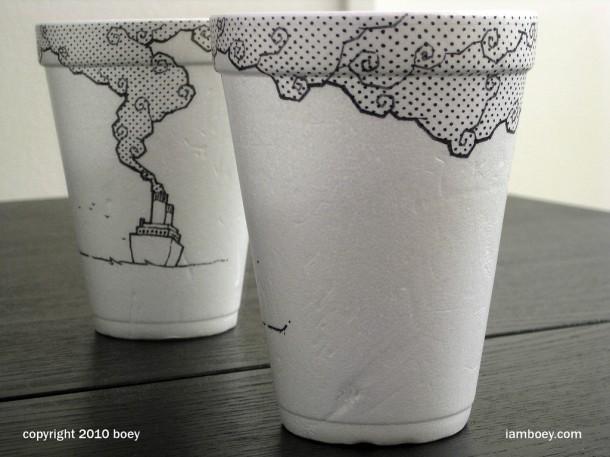 paper coffee cup art ideas