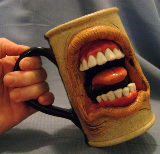 Belching coffee mugs