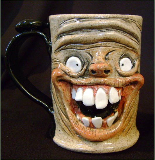 Really happy coffee mugs