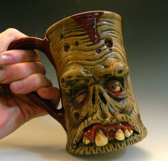 rotting zombie coffee mugs