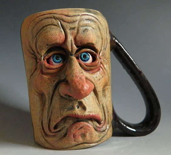 upside down coffee mugs