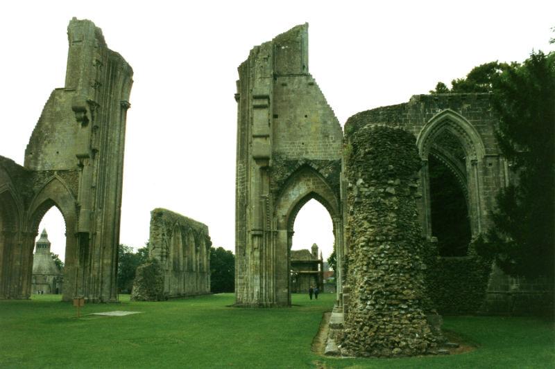 Glastonbury Abbey ruins England