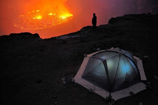 Lava Lake Nyiragongo Volcano wallpaper