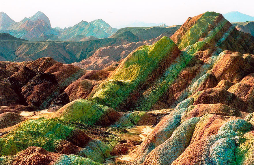 Rainbow Mountains In Zhangye Danxia Landform China