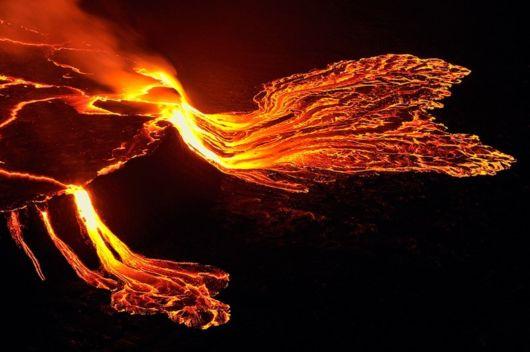 congo Lava Lake Nyiragongo Volcano