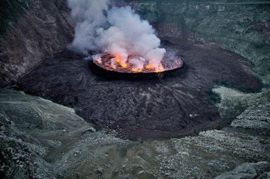 nyiragongo volcano lake amazing