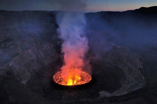 nyiragongo volcano lake congo