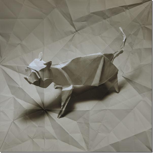 origami cat Marc Fichou