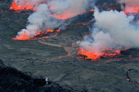 stunning Lava Lake congo