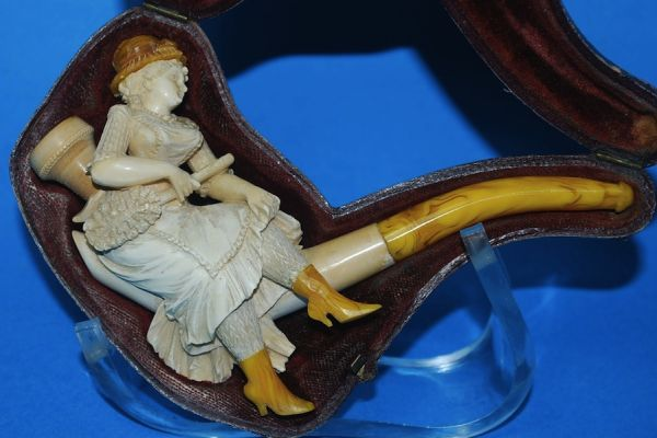 Antique Carved meerschaum Pipes