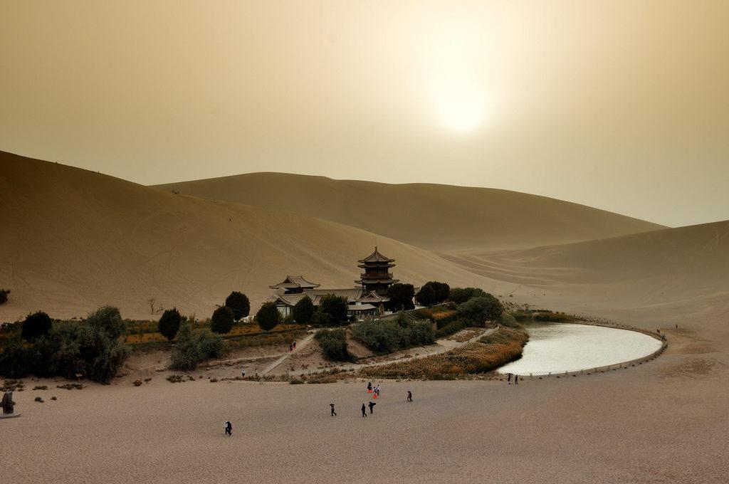 nature Crescent Lake china