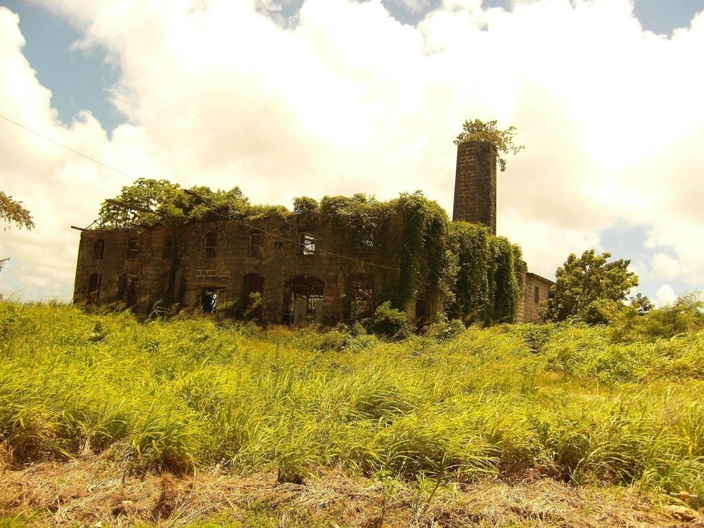 Abandoned distillery Barbados
