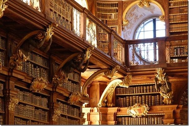 Abbey Library in Melk Austria