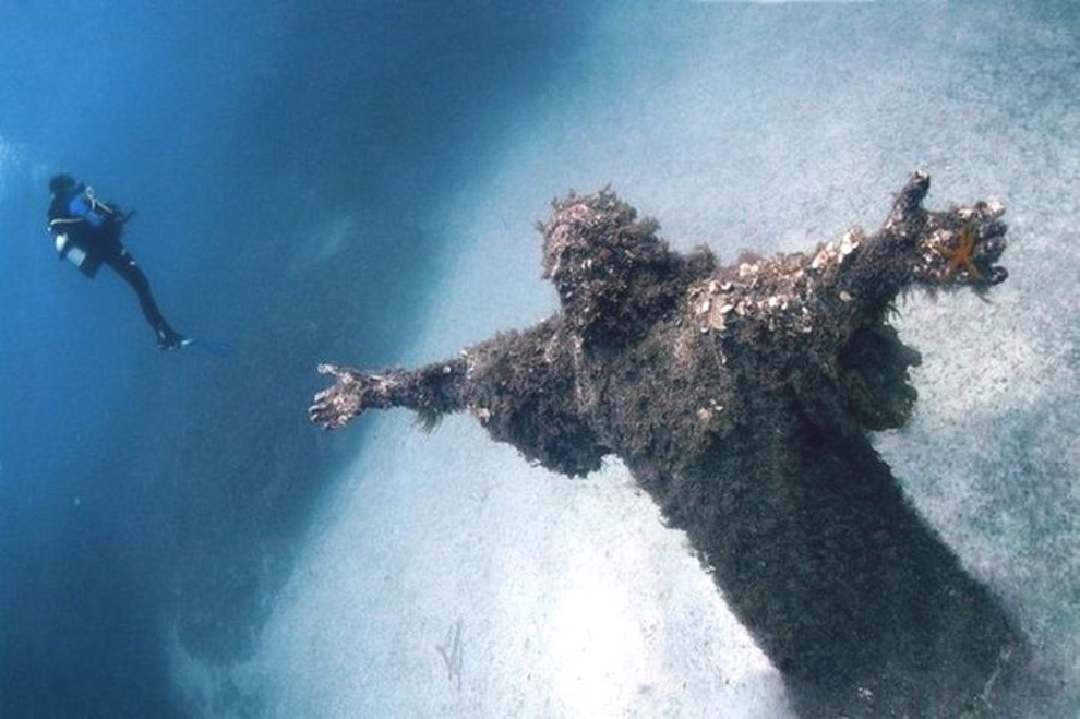 Christ of the Abyss San Fruttuoso Italy