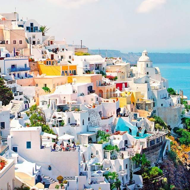 Santorini Greece Bright Architecture