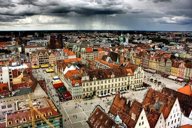 Wroclaw Poland Bright Architecture