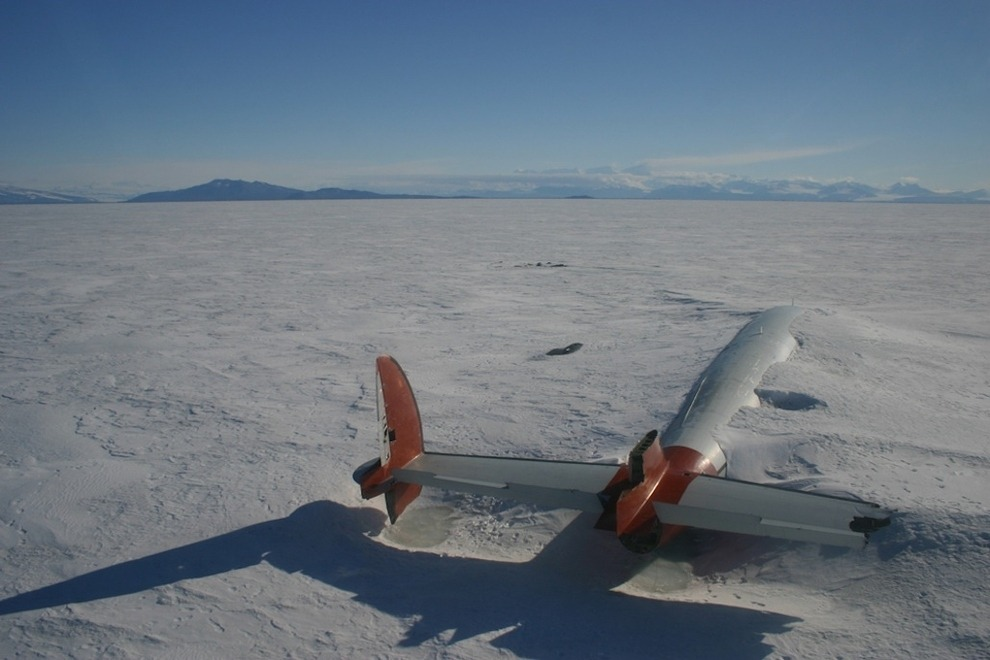 remains of the Pegasus McMurdo Sound Antarctica