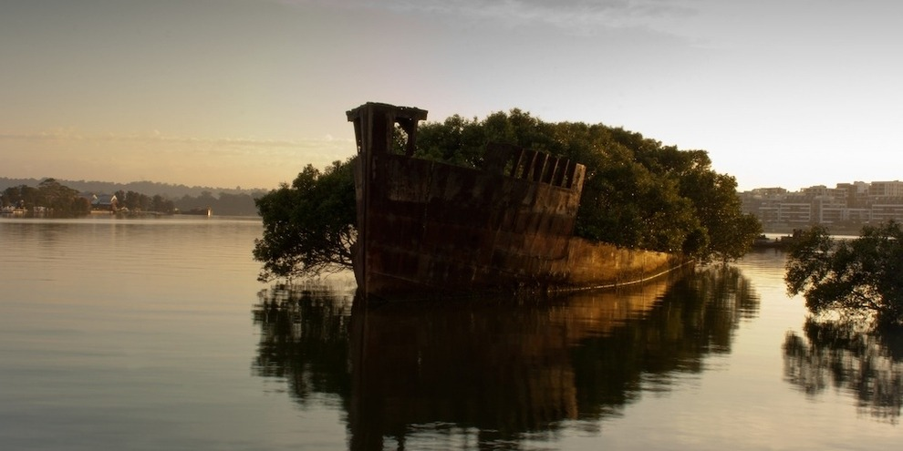 remains of SS Ayrfield Homebush Bay Australia
