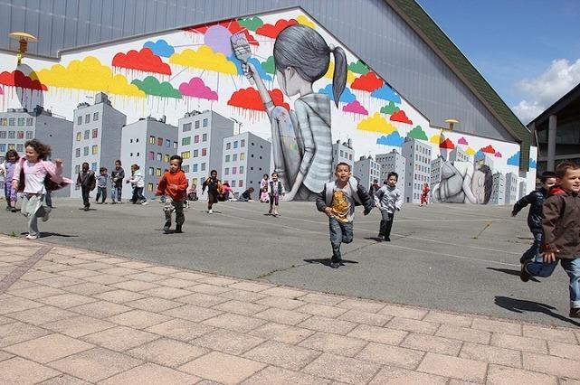 Julien Malland Street Art Fleury-les-Aubrais France