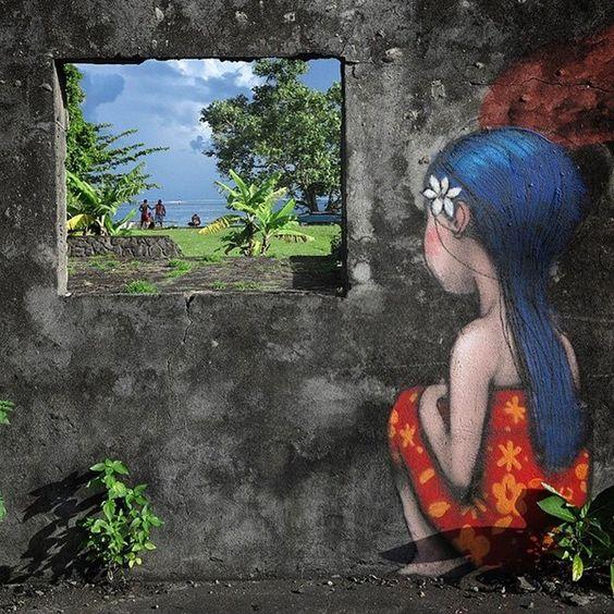Julien Malland Street Art Tahiti