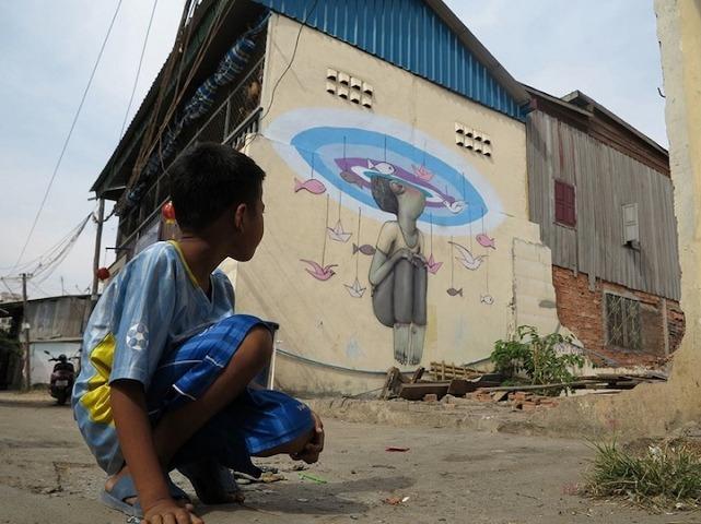 cool street art Phnom Penh Cambodia