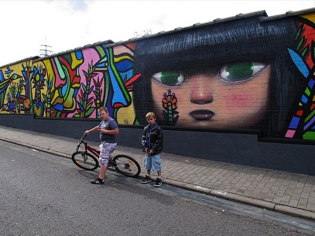 mural street art Ougree Belgium