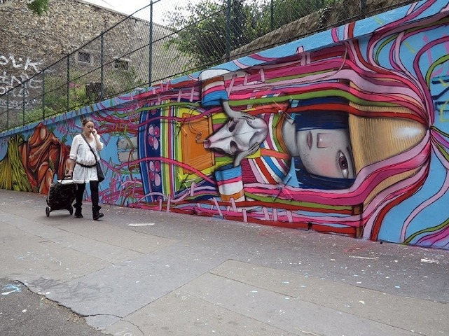 mural street art Paris France