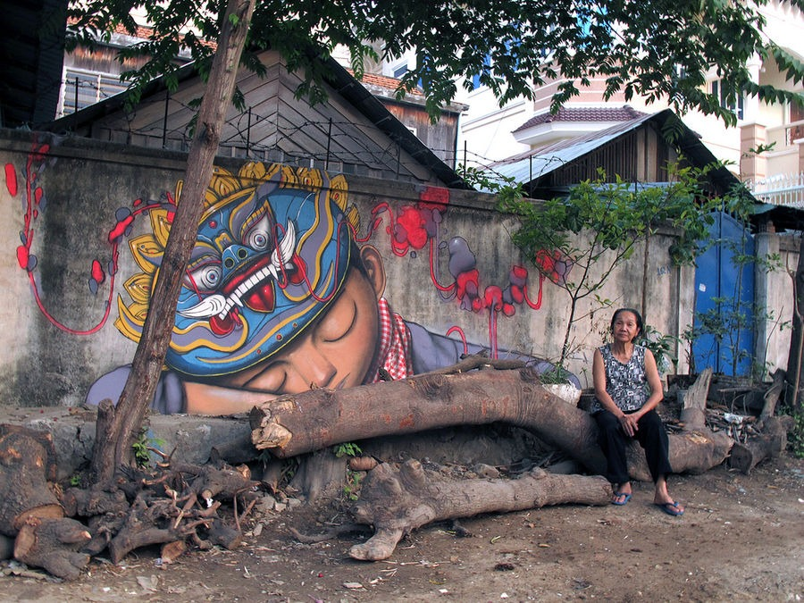 street art Phnom Penh Cambodia