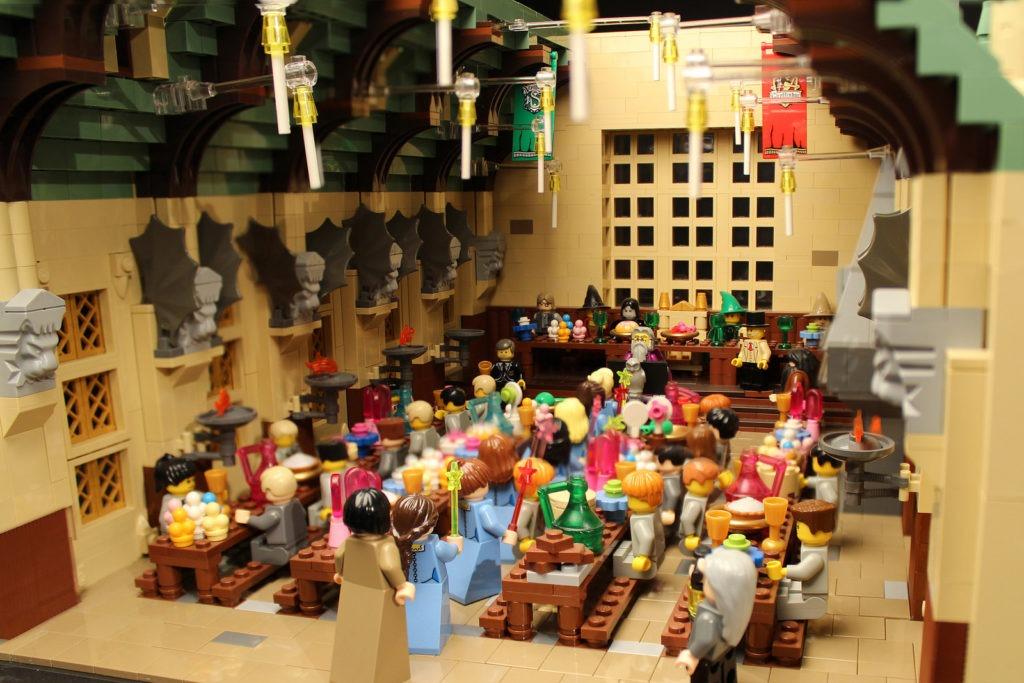 Great Hall feast Beauxbaton